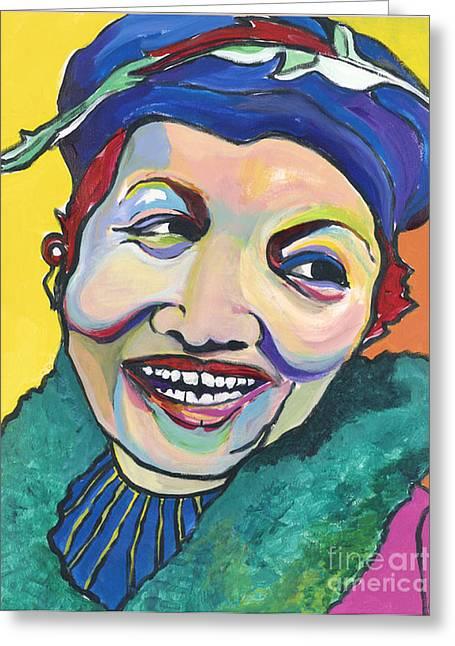 Woman In Hat Greeting Cards - Koko Vivienne Greeting Card by Pat Saunders-White