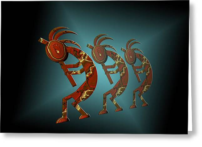 Carol And Mike Werner Greeting Cards - Kokopelli Greeting Card by Carol and Mike Werner
