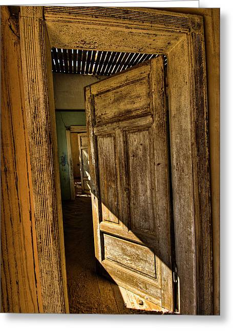 Back Dor Greeting Cards - Kolmanskop I Greeting Card by Andy-Kim Moeller