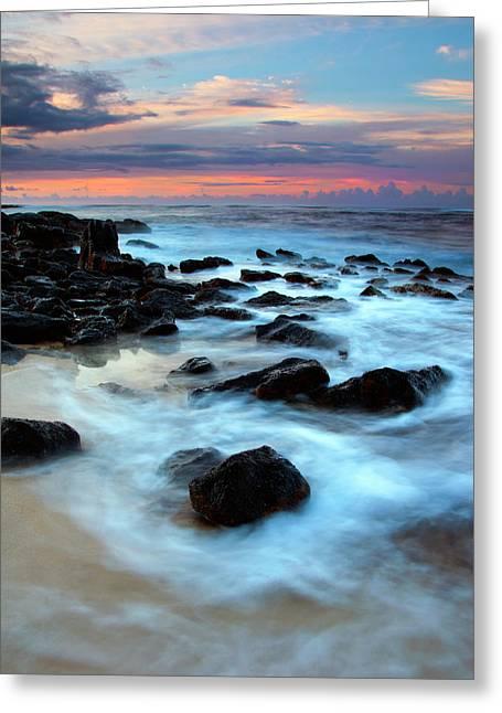 Lava Rock Greeting Cards - Koloa Dawn Greeting Card by Mike  Dawson