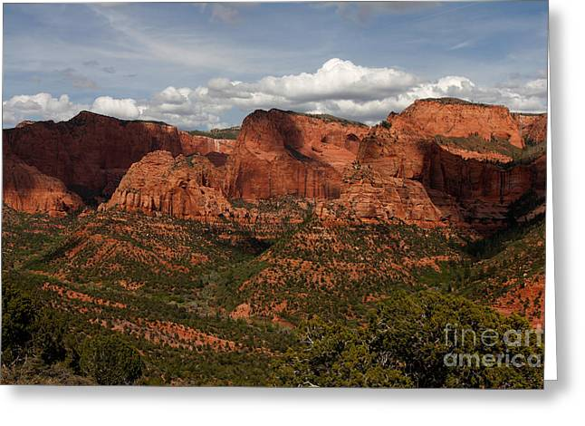 Kolob Canyon Zion Np Greeting Card by Scott Nelson