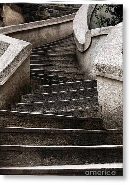 Komando Steps Greeting Card by John Rizzuto