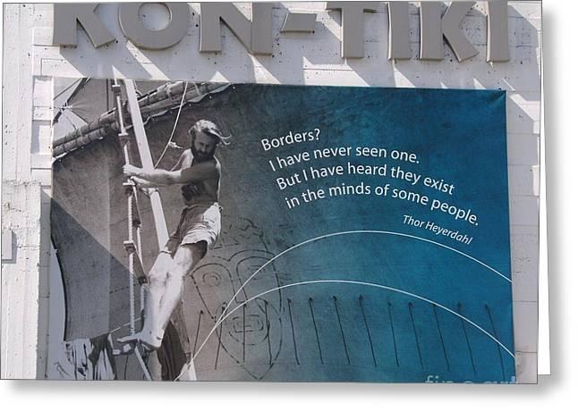 Thor Greeting Cards - Kon-Tiki Greeting Card by Alberta Brown Buller