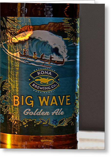 Kona Brewing Greeting Cards - Kona Big Wave Golden Ale Greeting Card by Bill Owen