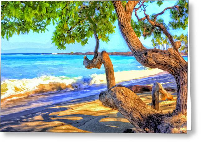 Lahaina Greeting Cards - Kona Morning Glow Greeting Card by Dominic Piperata