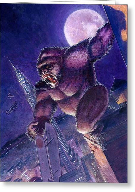 King Kong Greeting Cards - Kong Greeting Card by Ken Meyer jr