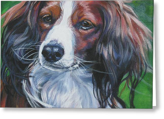 Kooiker Greeting Cards - Kooikerhondje Greeting Card by Lee Ann Shepard
