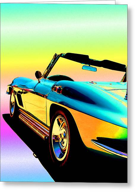 Father Greeting Cards - Kool Corvette Greeting Card by Lynn Andrews