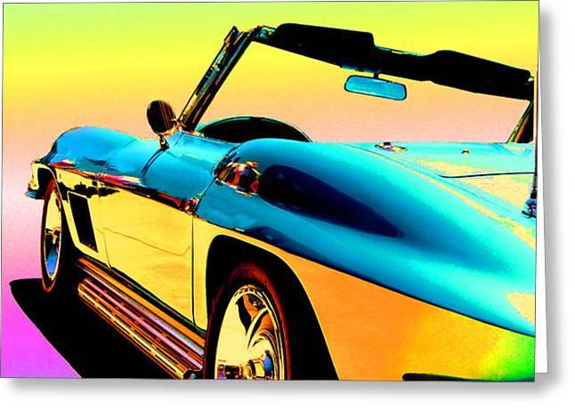 Kool Corvette Greeting Card by LYNN ANDREWS