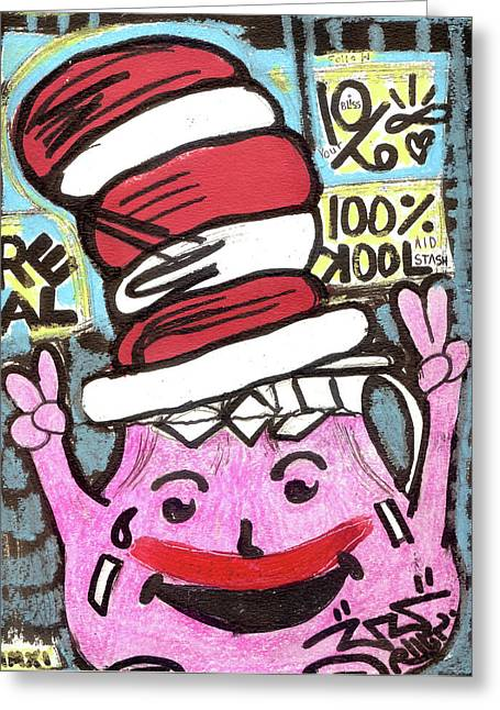 Hat Art Cat In Hat Art Greeting Cards - Kool Kat Greeting Card by Robert Wolverton Jr