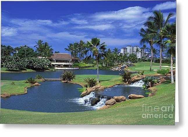 KoOlinas 18th Hole Greeting Card by Peter French - Printscapes