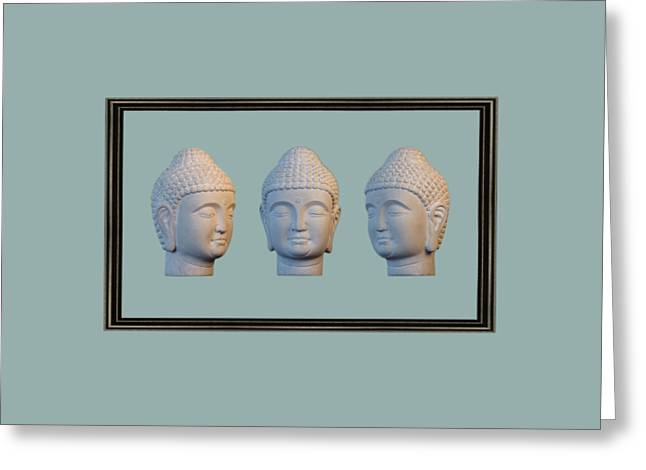 Choosing Sculptures Greeting Cards - Korean 2 32 Framed Greeting Card by Terrell Kaucher