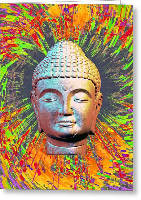 Buddhist Sculptures Greeting Cards - Korean 2C Colorful b Greeting Card by Terrell Kaucher