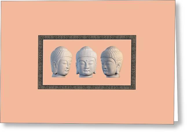 Choosing Sculptures Greeting Cards - Korean 31 framed Greeting Card by Terrell Kaucher