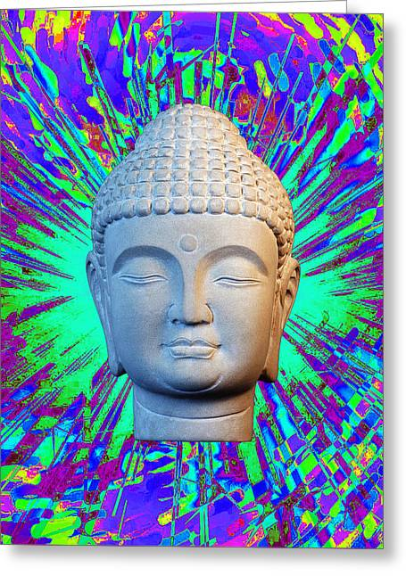 Buddhist Sculptures Greeting Cards - Korean C2 Colorful  Greeting Card by Terrell Kaucher