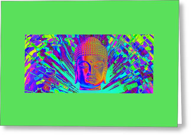 Buddhist Sculptures Greeting Cards - Korean Colorful Horizontal 2 Greeting Card by Terrell Kaucher