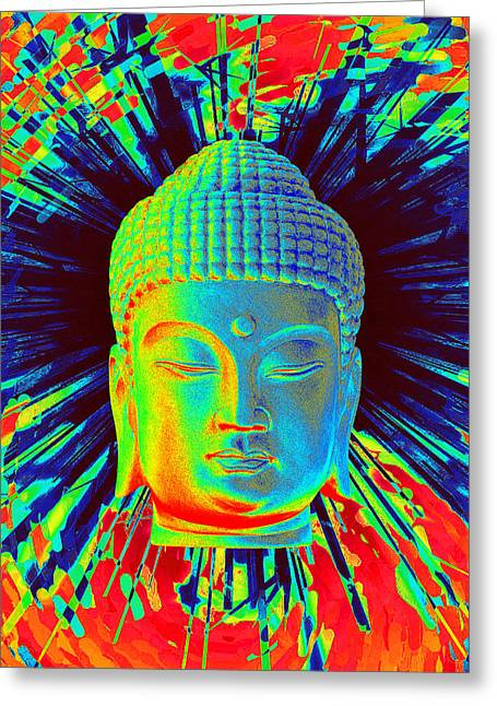 Religious Sculptures Greeting Cards - Korean Colorful  Greeting Card by Terrell Kaucher