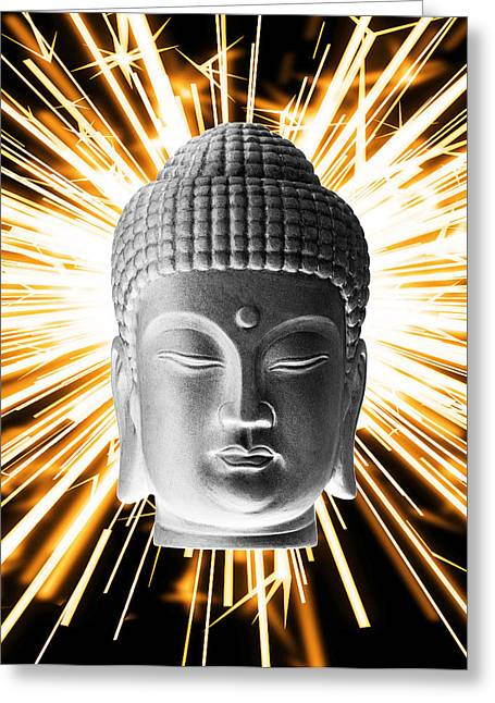 Religious Sculptures Greeting Cards - Korean Enlightenment Greeting Card by Terrell Kaucher