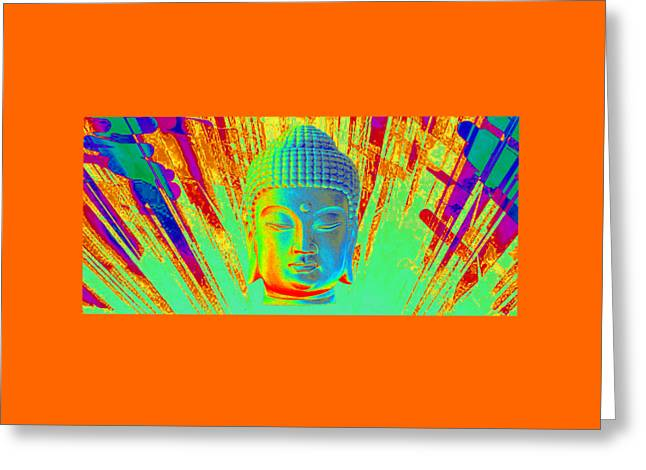 Buddhist Sculptures Greeting Cards - Korean Horizontal Colorful  Greeting Card by Terrell Kaucher
