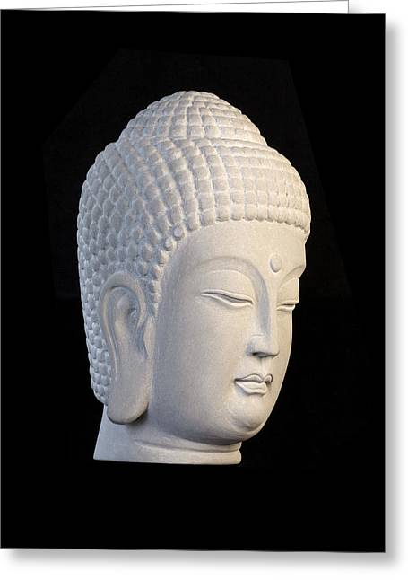 Buddhism Sculptures Greeting Cards - Korean R Greeting Card by Terrell Kaucher