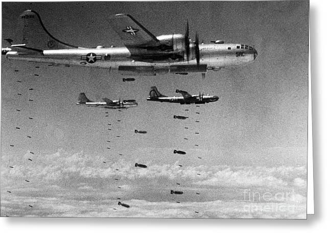1951 Greeting Cards - Korean War: B-29 Bombers Greeting Card by Granger