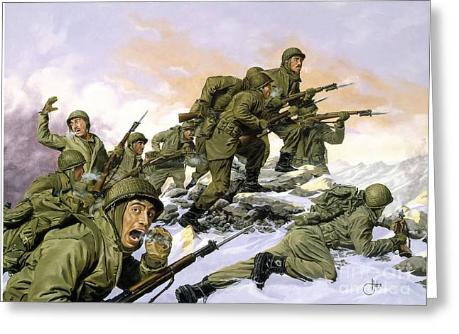 Korean War Greeting Card by Celestial Images