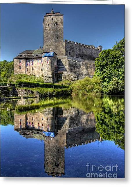 Strengthen Photographs Greeting Cards - Kost Castle Greeting Card by Michal Boubin