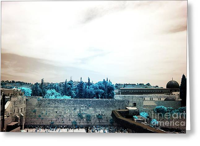 Contemporary Western Fine Art Greeting Cards - Kotel Greeting Card by John Rizzuto
