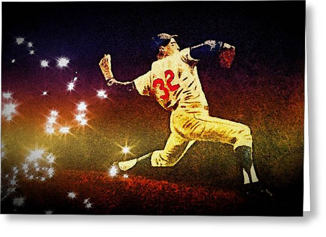 Koufax Greeting Card by Chris Grimm