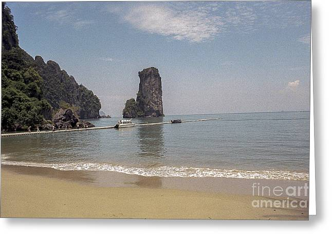 View Pyrography Greeting Cards - krabi Paradise-Thailand  Greeting Card by Nicholas  Allaniaris