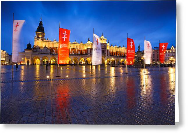 Town Square Greeting Cards - krakow XIII Greeting Card by Milan Gonda