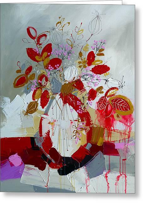 Still Life Greeting Cards - Krasnie Naturmort Greeting Card by Irina Rumyantseva