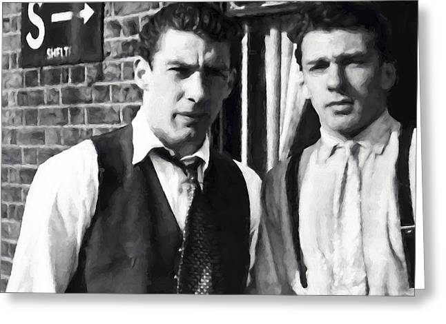 Kray Brothers London Prime Painterly Greeting Card by Daniel Hagerman