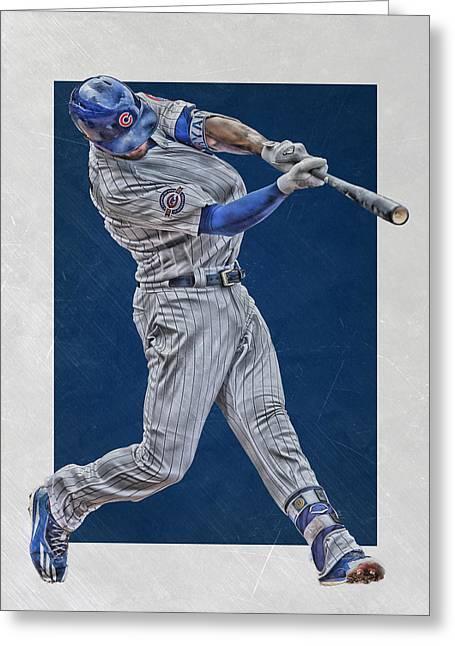 Kris Bryant Chicago Cubs Art 4 Greeting Card by Joe Hamilton