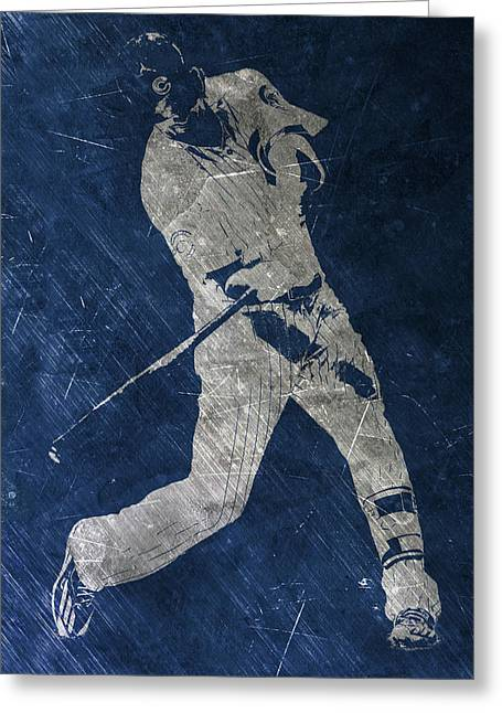 Kris Bryant Chicago Cubs Art Greeting Card by Joe Hamilton