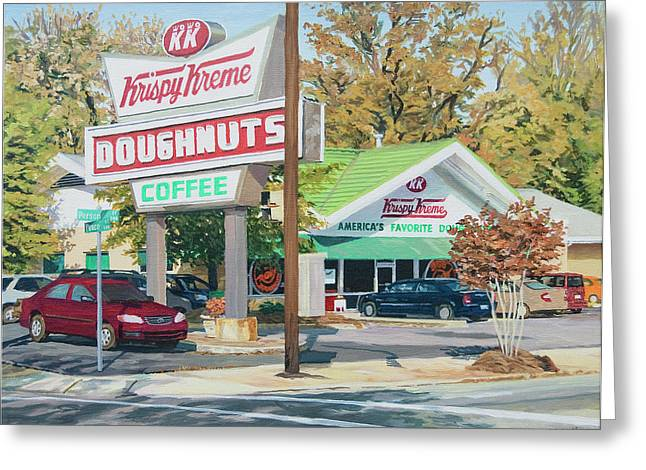 Krispy Kreme At Daytime Greeting Card by Tommy Midyette