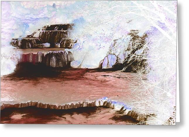 Stream Digital Art Greeting Cards - Krka National Park Croatia Greeting Card by Ann Johndro-Collins