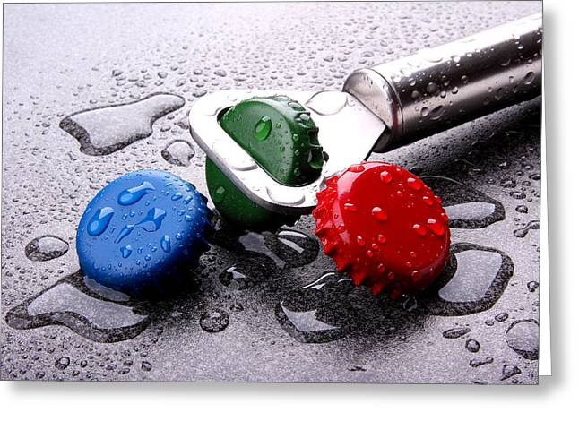 Bottled Water Greeting Cards - Kron cork Greeting Card by Manfred Lutzius