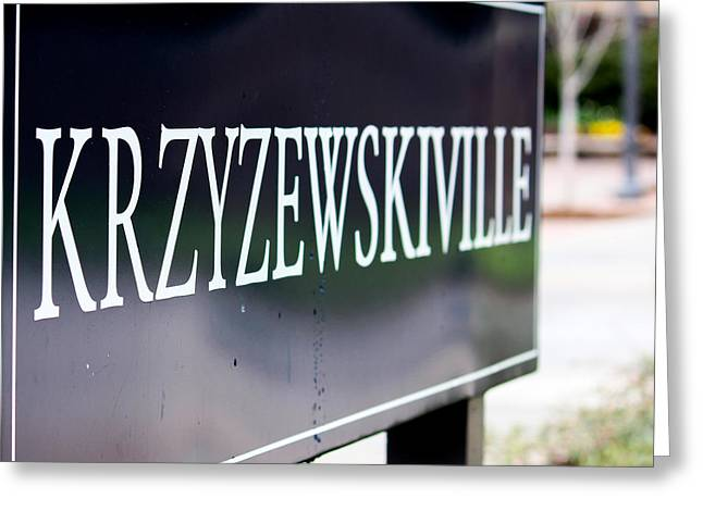 Historic Home Greeting Cards - Krzyzewskiville  Greeting Card by Robert Yaeger