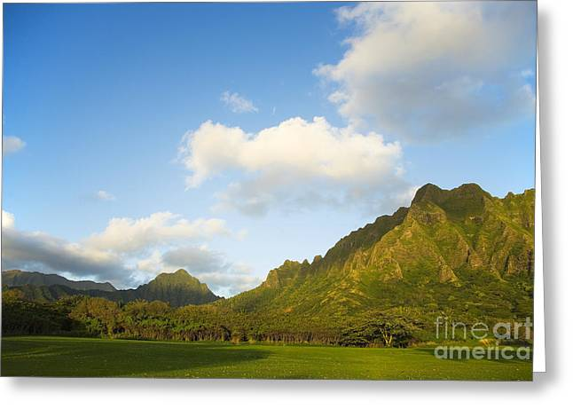 Best Sellers -  - Pastureland Greeting Cards - Kualoa Ranch Greeting Card by Dana Edmunds - Printscapes