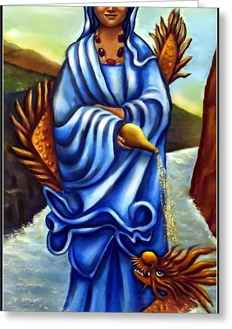 Kuan Greeting Cards - Kuan Yin -Goddess Of Mercy Greeting Card by Carmen Cordova