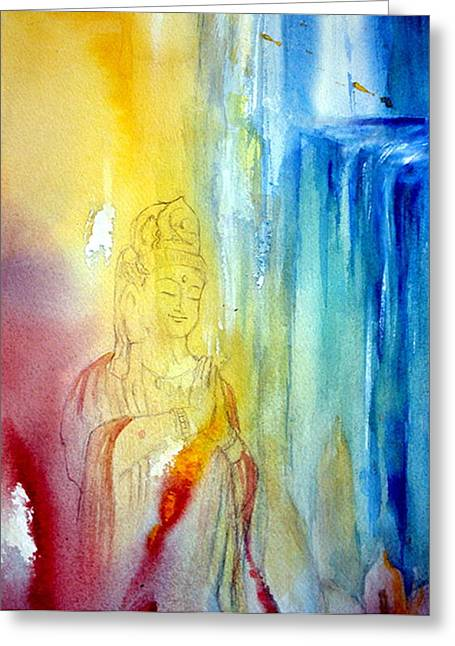 Quan Greeting Cards - Kuan Yin Greeting Card by Wendy Wiese