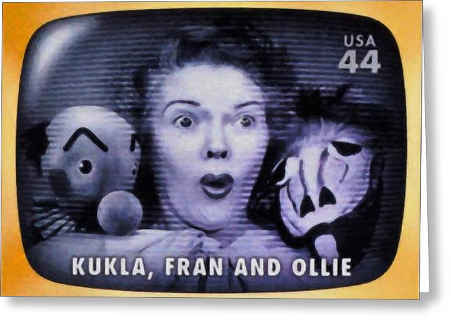 Ollie Greeting Cards - Kukla Fran and Ollie Greeting Card by Lanjee Chee