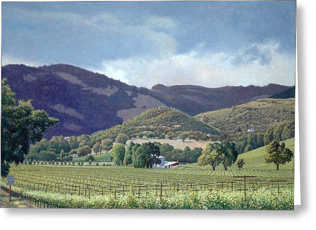Valley Of The Moon Paintings Greeting Cards - Kunde Greeting Card by Paul Youngman