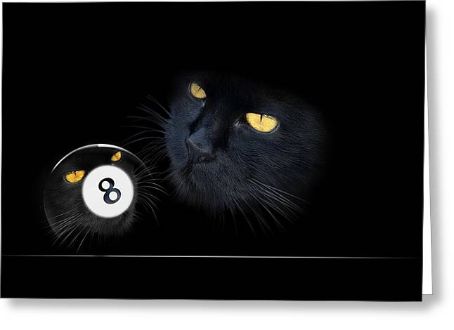 Billiards Digital Greeting Cards - KuriousKat Greeting Card by Draw Shots