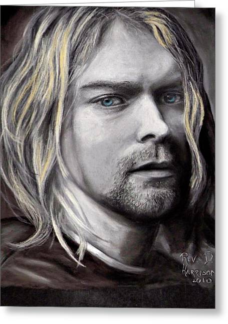 Grunge Pastels Greeting Cards - Kurt Cobain Greeting Card by Dennis Jones