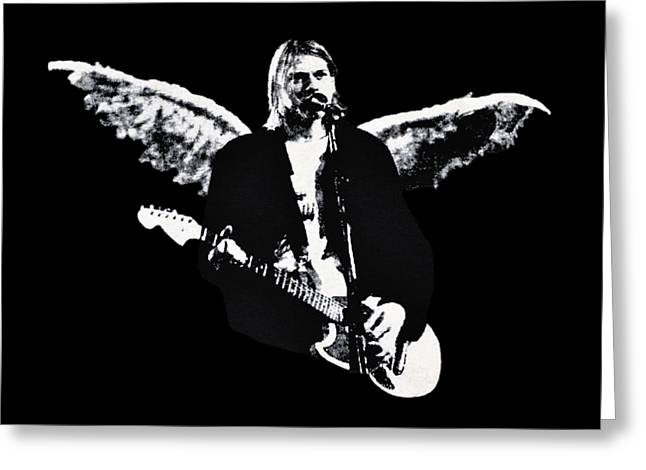 1990s Greeting Cards - Kurt Cobain Weathered Wings .png Greeting Card by Al Powell Photography USA