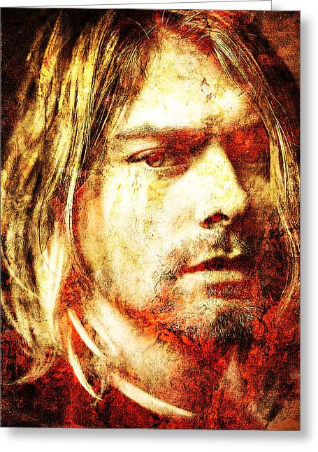 Unique Art Greeting Cards - Kurt Greeting Card by Jose Espinoza