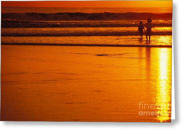 Amazing Sunset Greeting Cards - Kuta beach at sunset Greeting Card by Dana Edmunds - Printscapes