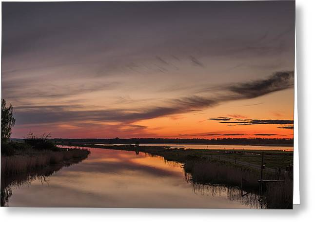 Lonly Greeting Cards - Kvismare Kanal Greeting Card by Ludwig Riml